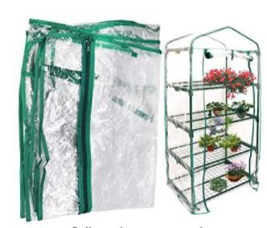 Together-life Mini Transparent PVC Cover Portable Small Greenhouses Cover with Roll-Up Zipper Door