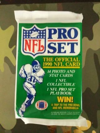 Sealed Pack - 1990 NFL Pro Set Football Cards