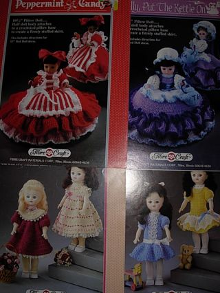 Free 4 Fibrecraft Crochet Pattern Outfits For 11 13 Dolls Not