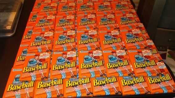 50 Orange 1990 Donruss Baseball Sealed Packs-Baseball Cards