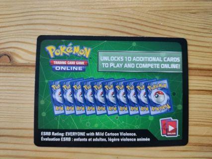 Pokemon TCG Online 10 Game Cards - Darkness Ablaze