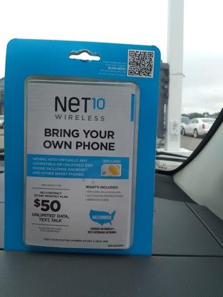 Brand brand new net10 wireless SIM card kit