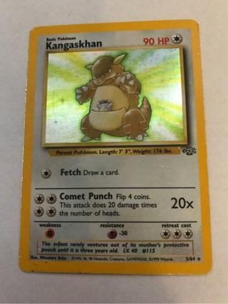 Pokemon Card Kangaskhan Holo Rare Jungle Set 5/64
