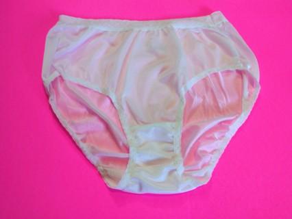 1 New Women's 100% Nylon White Pantie - Size 6 Fruit of the Loom
