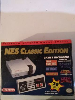 Authentic Nintendo Nes Classic Edition With 30 games