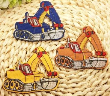 Construction Truck IRON ON Patch Clothing Accessories Embroidered Applique Badge FREE SHIPPING