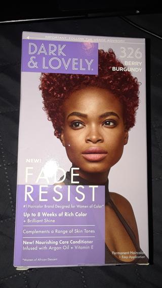 Dark & Lovely Berry Burgundy(#326) Hair Color.