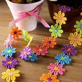 1Y New Applique Headband Dress DIY Craft Embroidered Lace Trim