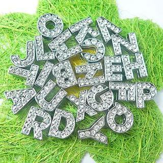 6 rhinestone letters & 1 silicone bracelet I WILL DESIGN BRACELET FOR YOU