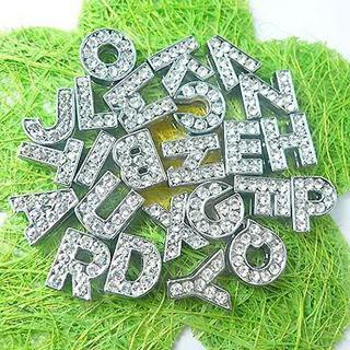 6 rhinestone letters & 1 silicone bracelet I WILL DESIGN BRACELET FOR YOU