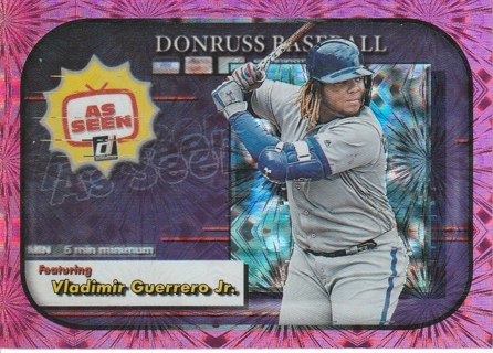 2020 Donruss As Seen Insert Vladimir Guerrero Jr Toronto Blue Jays Pink Fireworks Parallel #AS-6!