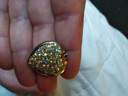 Heart shaped sparkling crystals