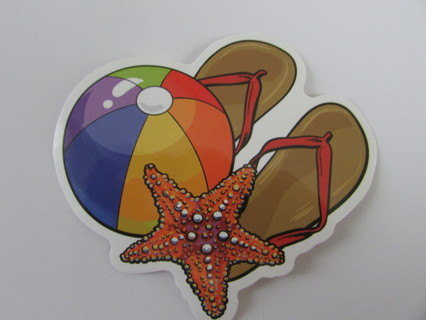 FUN AT THE BEACH- Vinyl Sticker- Helmet/Car/Skateboard/Business/Crafts