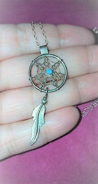Turquoise Indian Dream Catcher Necklace