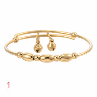 Child Bell Beads Bangle 14K Gold Filled