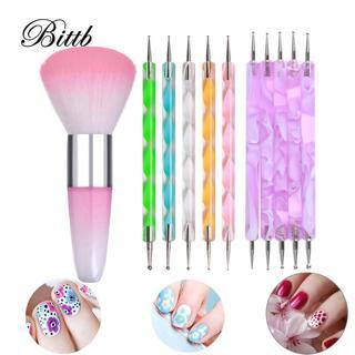 Bittb Nail Dotting Tools 3D UV Gel Polish Design Marbleizing Painting Pen Nail Art Decoration Tips