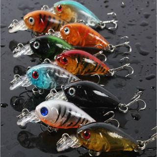 5PCs Plastic Fishing Lures Bass CrankBait Crank Bait Tackle