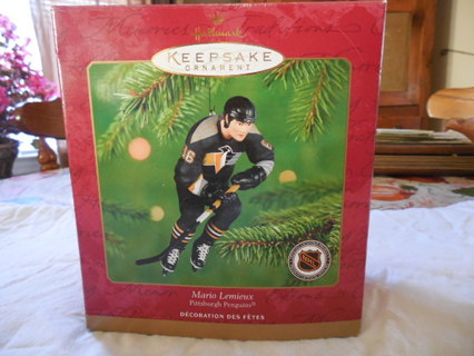 Hallmark Christmas Ornament --  Mario Lemieux  -- Pittsburgh Penguins
