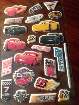 Puffy stickers- Cars 3!