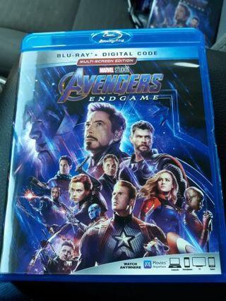 Marvel Avengers Endgame Blue Ray Auction #1