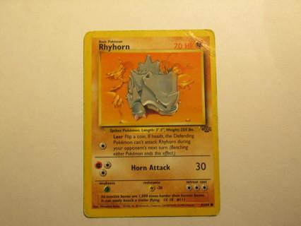 Pokemon card - Rhyhorn 61/64