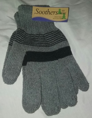 Soothers ECO Friendly Men Black and Gray Gloves