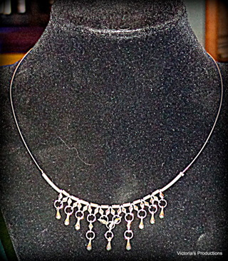 Simple metal Bib Necklace!