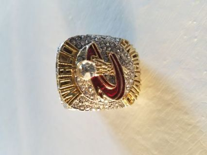 Gold Plated 2016 NBA Cleveland Cavaliers James championship ring Size 10