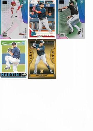 (5) 2019 Panini Baseball Rookies
