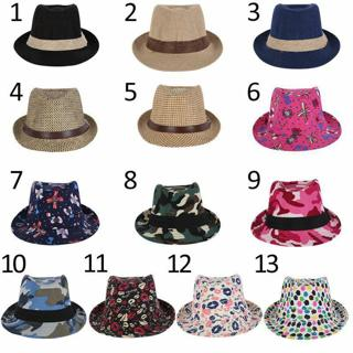 Toddler Kid Baby Girl Boy Fedora Hat Jazz Cap Photography Cotton Trilby Hat Cap