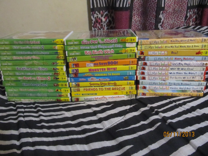 Free Huge Lot Of 35 Sesame Street Elmo Dvds Check This