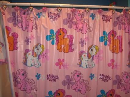 Cute Shower Curtain My Little Pony