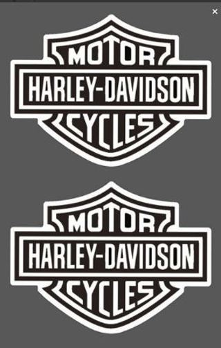 (2-PACK) Harley-Davidson Motorcycles Stickers
