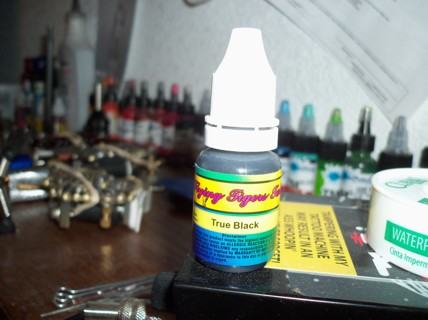 Free: 10ML BOTTLE TRUE BLACK FLYING TIGER TATTOO INK - Other ...