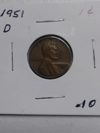 1951-D Lincoln Wheat Penny! 29