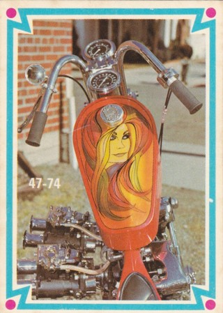 47-74 - 1972 Donruss Choppers and Hot Bikes trading card #37