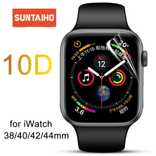 Suntaiho TPU Full Coverage Protector film For Apple Watch 4 40/44 Screen Protector for i Watch