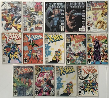 X-Men Lot Of 14 Marvel Comics - 1980s to 2000 Copper to Modern Age