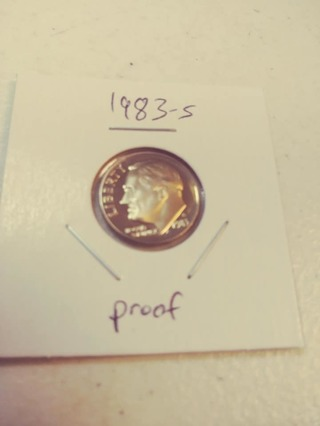 1983-S Proof Cameo Roosevelt Dime! 86