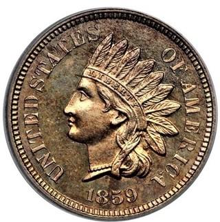 1859 Indian Head Cent Replica, copper Similar dimensions copy