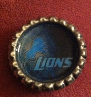 Lions Bottlecap  Magnet/Read description before bidding