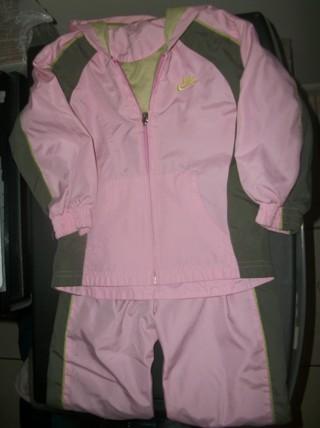 Pink & Gray Nike Jacket & Pants Set Size 2T