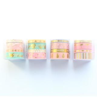 Domikee cute foil school decoration washi tape for diary planner notebook stationery,candy decorat