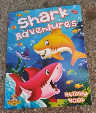 MEDIUM SIZED SHARK ADVENTURES COLORING BOOK ACTIVITY BOOK
