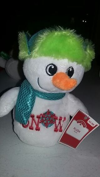 Plush snowman, NO free shipping, read description
