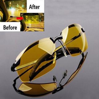 Men High-End Night Vision Polarized UV400 Driving Glasses Aviator Sunglasses
