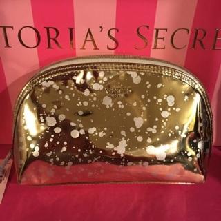 Victoria's Secret Golden Makeup Case Bag