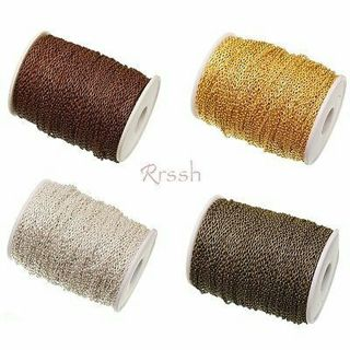 Wholesale 5M Iron Cable Open Link Chain Findings for Jewelry Making DIY