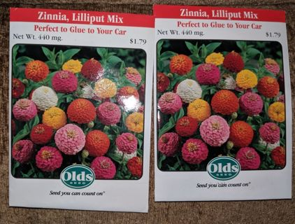 Zinnia, Lilliput Mix - 2 seed packets