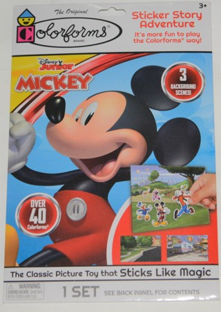 COLORFORMS NEW!! Disney Junior Mickey Mouse Over 40 Colorforms & 3 Scenes!! Great for Christmas!!